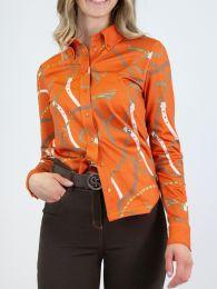 "HERMINE Polo Funktionsshirt Burnt Orange ""Ps of Sweden Herbst21"""